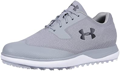 f99d30bd676d1 Under Armour Men s Tour Tips Knit Spikeless Golf Shoe Steel (100) Zinc Gray