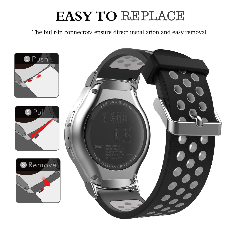 Emibele 20mm Universal Correa Compatible con Samsung Galaxy Watch ...