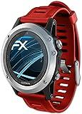 Garmin Fenix 3 / 3 HR Schutzfolie - 3 x atFoliX FX-Clear kristallklare Folie Displayschutzfolie