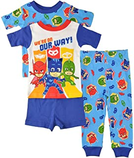 PJMASKS PJ Masks Boys 4-Piece Cotton Pajama Set