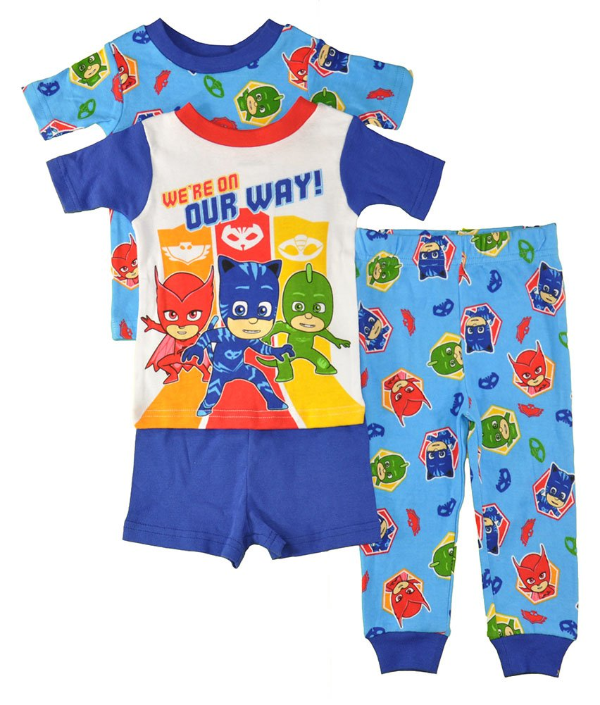 PJ Masks Little Boys 4pc Snug Fit Pajama