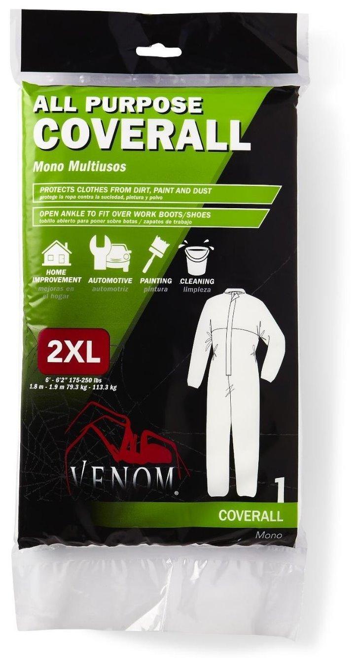 6 Pack Venom VENCV200XXL All-Purpose Disposable Coveralls - XX-Large