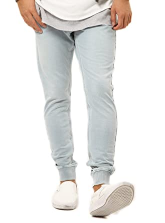 JIGGYS SHOP Men s Sweatpants Denim Joggers Pants Slim-fit Tapered Stretch  Jeans at Amazon Men s Clothing store  20e7d6ef018