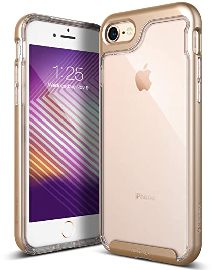 e77546d2d87 Amazon.com  Caseology Skyfall for iPhone 8 Case (2017)   iPhone 7 Case (2016)  - Clear Back   Slim Fit - Gold  Cell Phones   Accessories