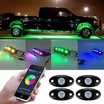 Juego de luces LED para el coche (con control remoto, a prueba de golpes super brillante luz para coche, suv, barco): Amazon.es: Coche y moto