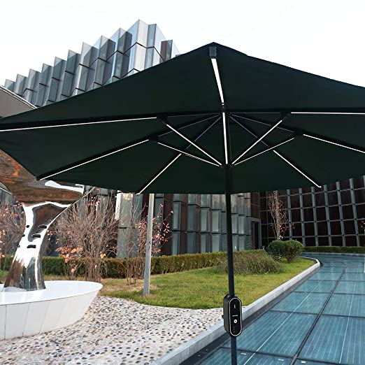Amazon.com: Hanergy - Paraguas para patio con 4 puertos USB ...