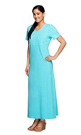 Empire waist maxi dress with short sleeves