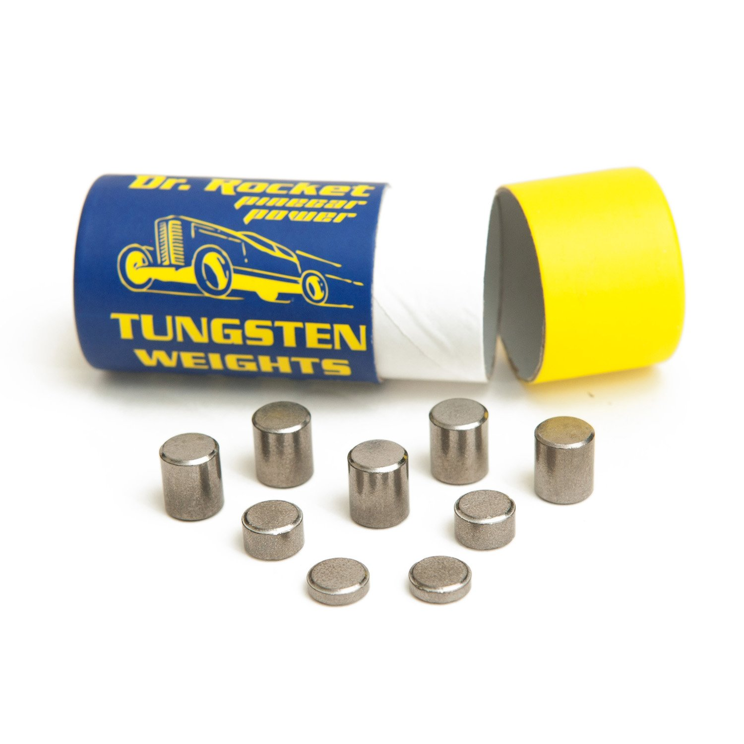 Pinewood Derby Weights Tungsten 3.25oz. Pinecar Power with Varied Sizes of Incremental Cylinders. Heavy with No Lead. by Rocket Box
