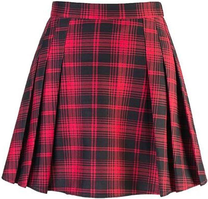 Falda Escocesa Red Skirtrock A Plaid Falda De Las Mujeres Especial ...