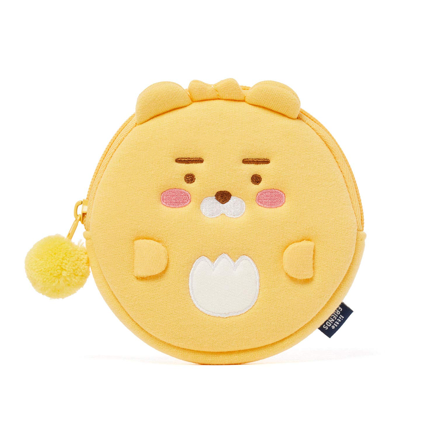 KAKAO FRIENDS Plush Zip Around Coin Wallet Purse Pouch Organiser with Cute Character Little Apeach