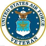 Vinyl Sticker Waterproof Decal GT Graphics US Air Force E4 Senior Airman Rank