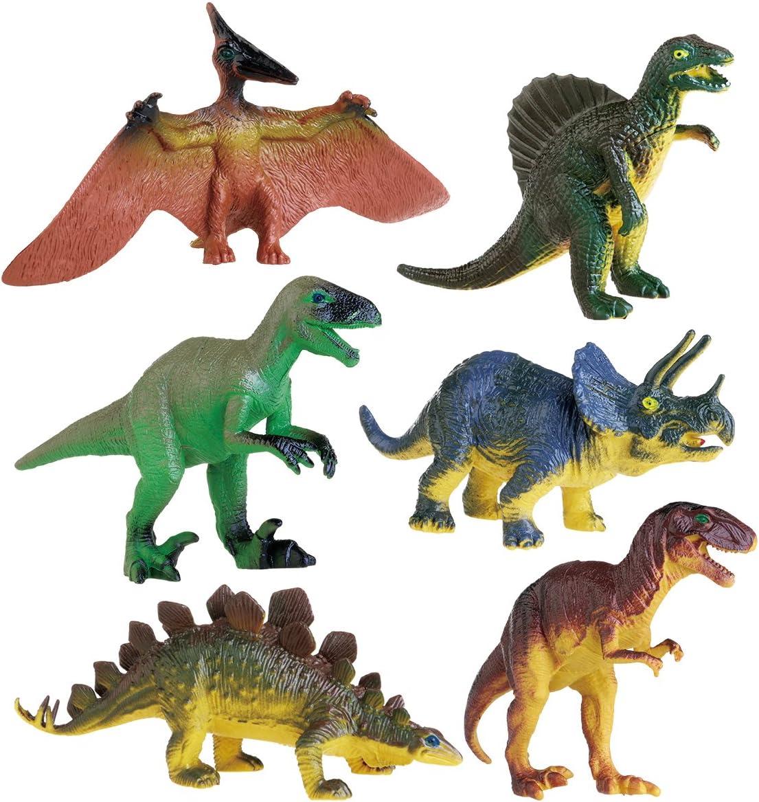NUOLUX 6pcs Dinosaurio Tirannosaurus Stegosaurus Triceratops Utahraptor peterosaurio Spinosaurus juguete educativo