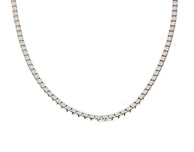 Orocatena - 750 1000 Or Blanc Chaîne Diamantée pour Homme 45cm - Vénitienne  Collier Or Véritable 18 carats  Amazon.fr  Bijoux b335db4fde17