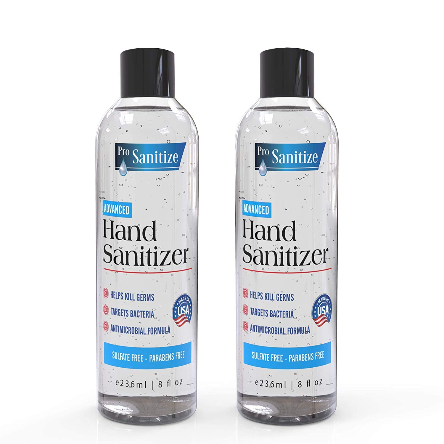 Waterless Hand Disinfectant Cleaning Gel - 2-Pk 8 fl oz Bottles : Beauty