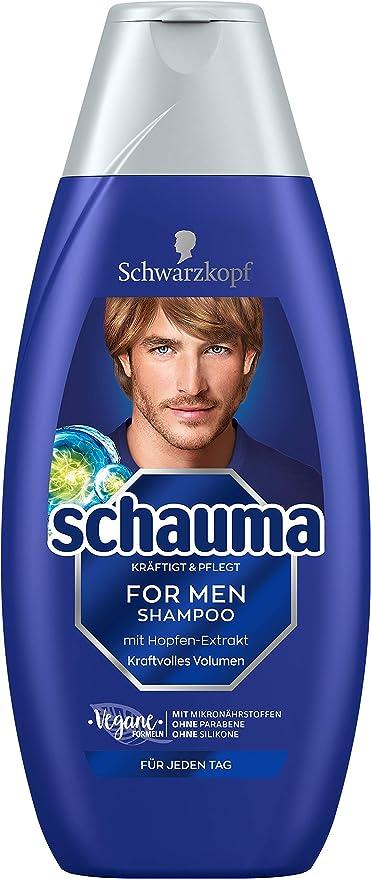 Schwarzkopf Schauma Champú para hombre, Pack de 5 (5 x 400 ml): Amazon.es: Belleza