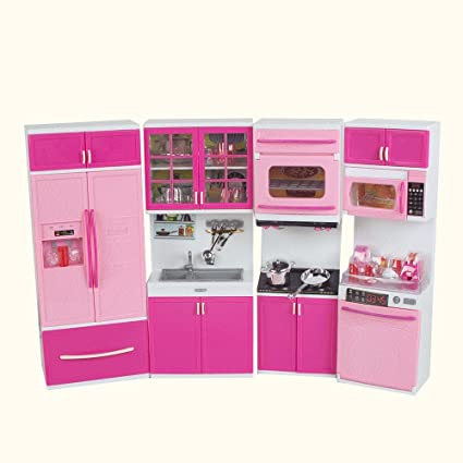 Finlon 4pcs Mini Kitchen Pretend Play Cooking Set Cabinet Toy Mini Stove  Kitchen Appliance Cooking Set