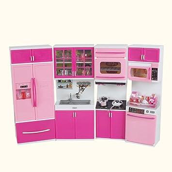 Amazon Finlon 48pcs Mini Kitchen Pretend Play Cooking Set Interesting Mini Kitchen Set