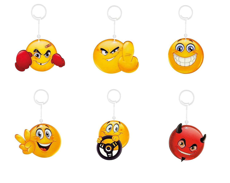6 X Deodorante per auto profumo Albero Auto Profumo Vaniglia Coole Smily smilies Emoji Emoticon mybuy24 80045