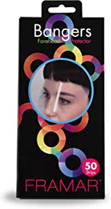 Framar Bangers Fask Mask, Transparent Forehead Protectors & Eye Mask for Hair Dye, Barber, Hair Color, Hair Cutting Scissors and Hair Clippers - 50 Pack