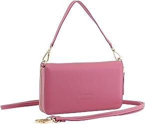StilGut Smart Wallet en cuir - Pochette, sac, housse portable et sac à bandoulière, Rose
