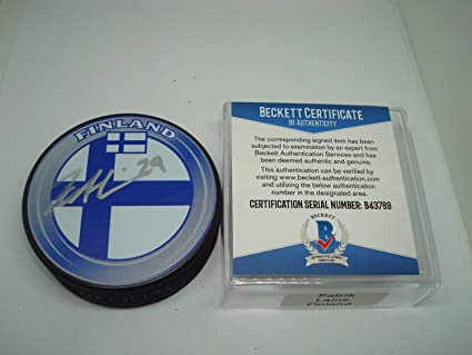04135912 Patrik Laine Signed Auto Team Finland Hockey Puck Signed Auto ...