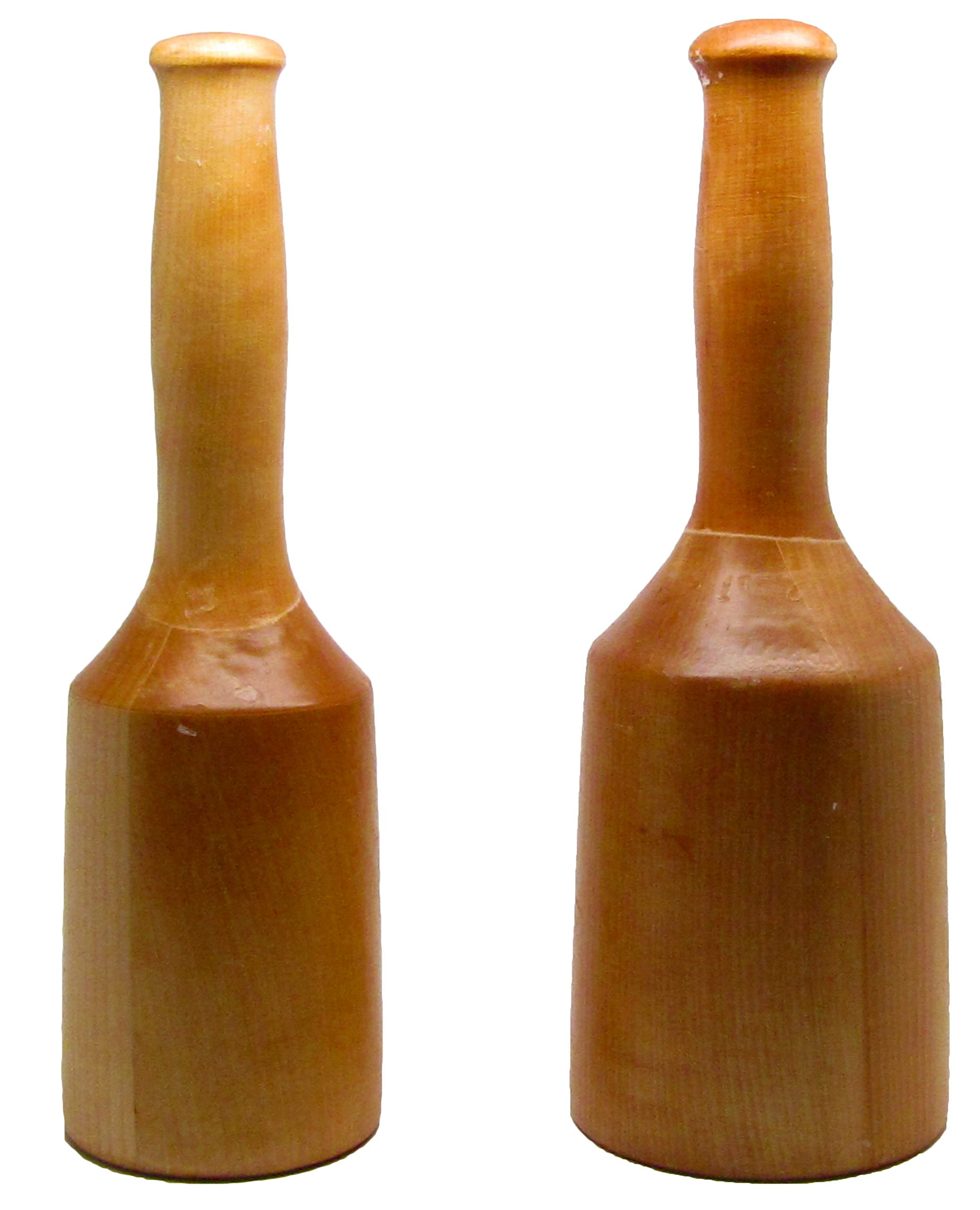 2 Wooden Mallet Set 20 and 15 oz, Birchwood Hardwood Wax Coated, Carvers Carpenters Mallet by UJ Ramelson Co