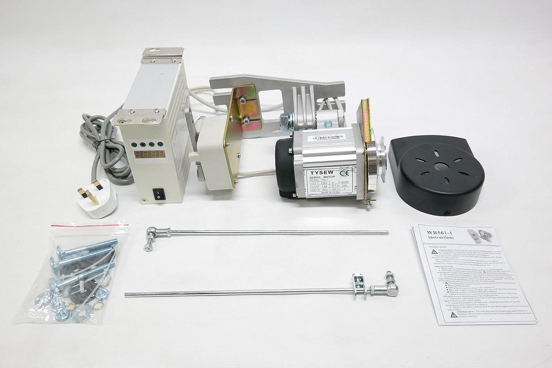 Tysew Speed Servo motor de máquina de coser industrial, silencioso, ajustable, para hermano, Juki, Singer, Toyota, Tysew y muchos más.