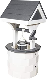 product image for DutchCrafters Small Wishing Well with Poly Roof (White/Gray)