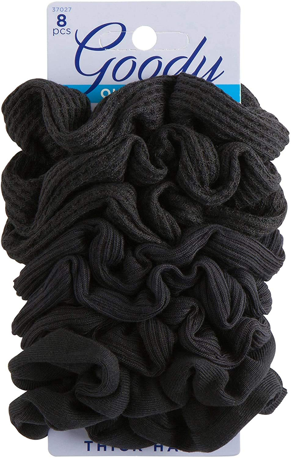 GOODY Hair Ouchless Painfree Women's Hair Scrunchie, Black, 8 Count