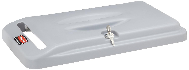 B000H0UV6Q Rubbermaid Commercial Slim Jim Confidential Document Retrofit Lid Kit, 20 1/2 x 11 3/8 x 2 1/4, Gray (9W16GY) 71n12DgF8-L