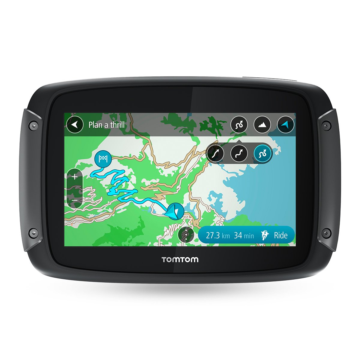 Tomtom Motorcycle Sat Nav Rider 500 43 Inches With Navigation Light Wiring For Dual Stationsnavlights001jpg Specific Winding And Hilly Roads Updates Via Wifi Compatible Siri Google Now