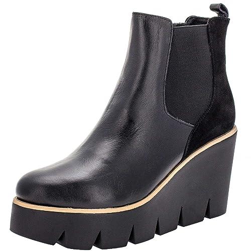 Vitti Love 3901 Botines de cuña Negros para Mujer, 40: Amazon.es: Zapatos y complementos