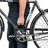 Rustic Leather Bicycle Frame Handle (Bike Handle) Handmade by Hide & Drink :: Bourbon Brown