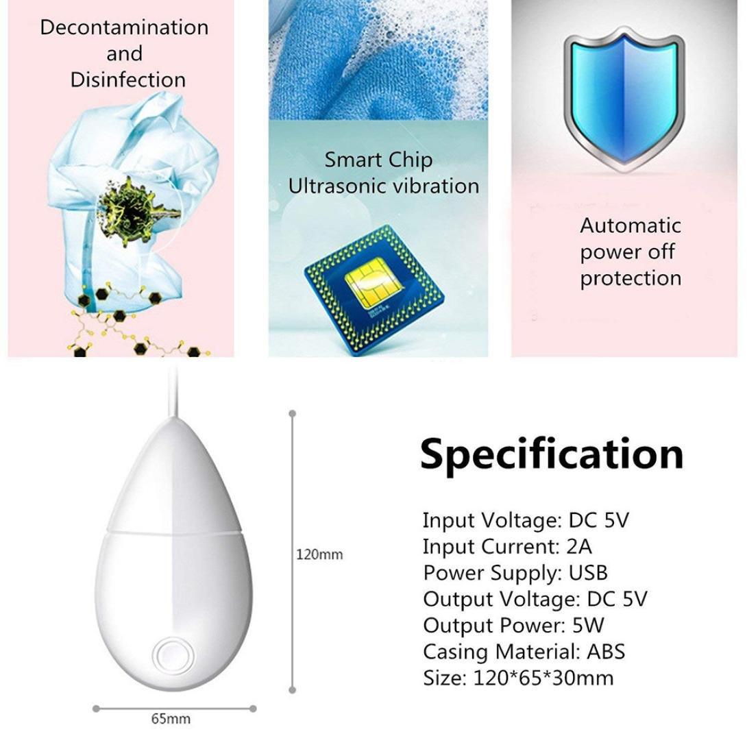 IKevan_Washers Smart Portable USB Ultrasonic Mini Washing Device Machine Fruit Cleaning Hot By (white) by IKevan_Washers (Image #5)
