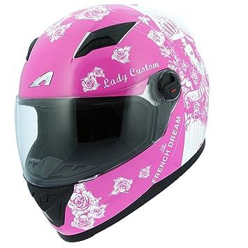 Astone Helmets gt2g-ladyc-pwxs casco Moto Integral GT Lady Custom, Rosa/