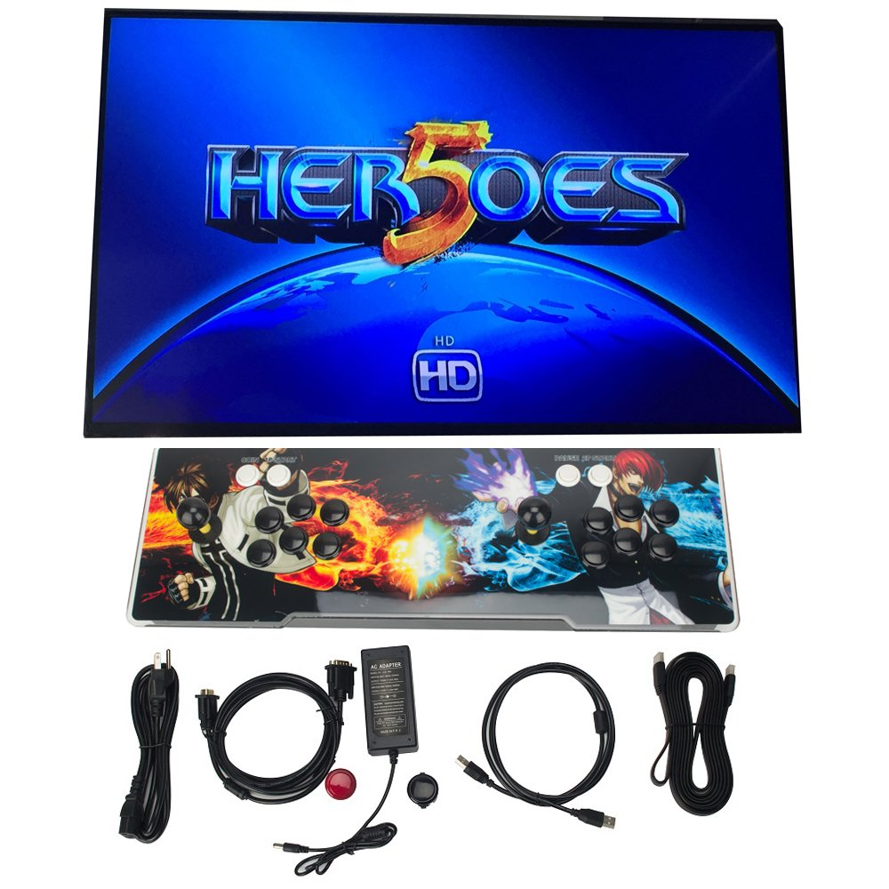 DODOING 2000 in 1 Heroes Box 5 Arcade Fight Video Classic Games Console Gamepad HDMI VGA