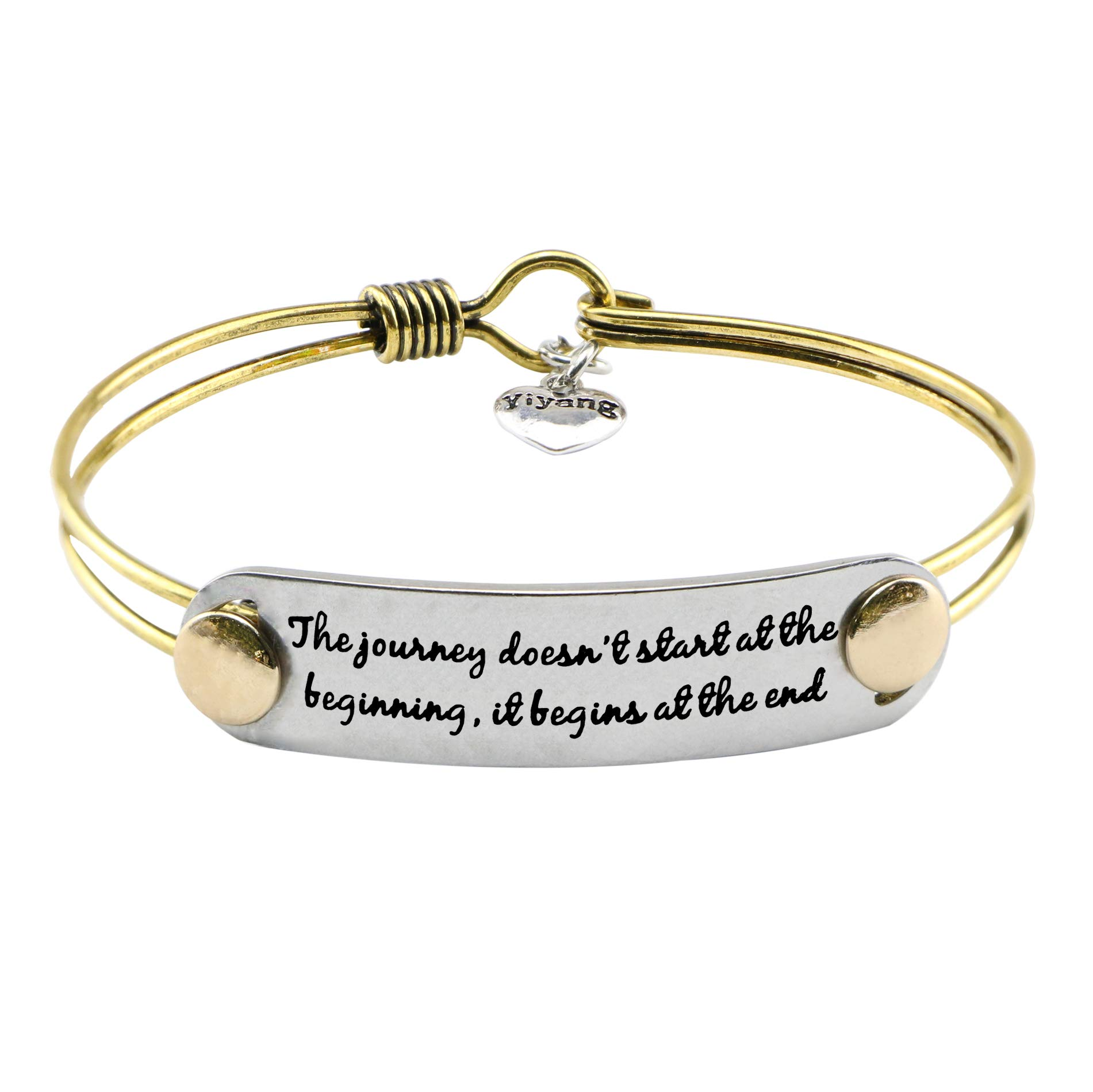 UNQJRY Antique Bracelets for Friends Graduation Jewelry Birthday with Inspirational Quote Though she be but Little, she is Fierce