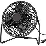 EasyAcc Mini USB 6 Inch Fan Desktop Fan Perfect for Laptop Notebook PC Desk Table Fan - Metal Black