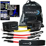Kinetic Bands Leg Resistance Speed Bands for Athletic Performance and Fitness Training - Digital Training Videos and Workout Guides