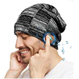 Bluetooth Hat, Rechargeable Unisex Bluetooth Beanie, Removable Wireless Earphone hat, mens gifts with Control Panel…