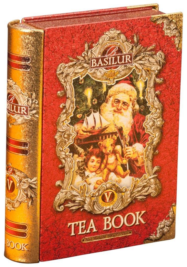 Basilur, Tea Book Volume 5, 100% Pure Ceylon Tea, Pure Black Tea with Christmas Flavors, Collectible Metal Caddy, 100g /3.5 oz.