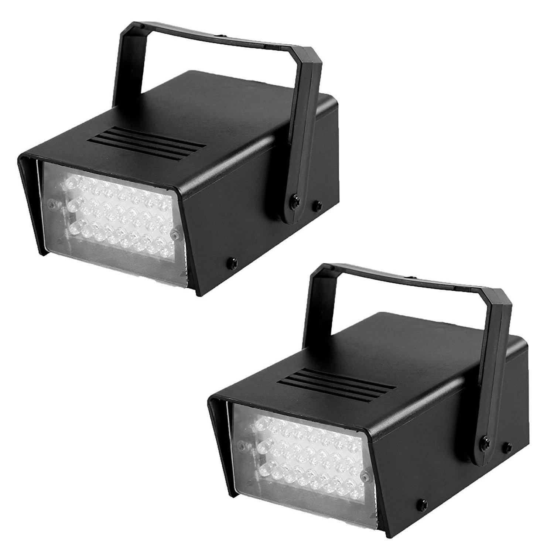 GBGS Mini Strobe Light White 24 LEDs Flash Lighting Soft Eye-Caring for Kids, Children, Christmas, Halloween, Birthday, House Parties(2 Pack) WTD65-W-T2