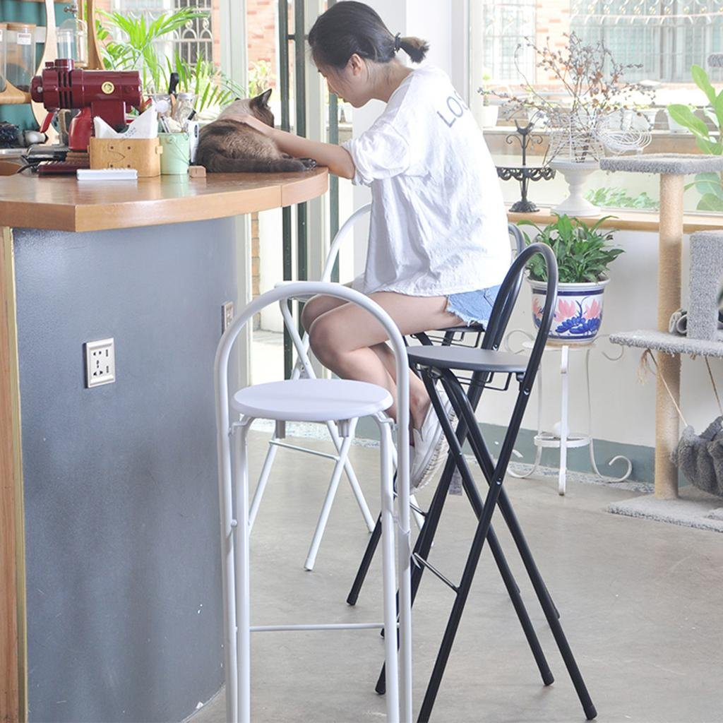 Amazon.com: HETAO Simple bar chair High chair Folding chair ...