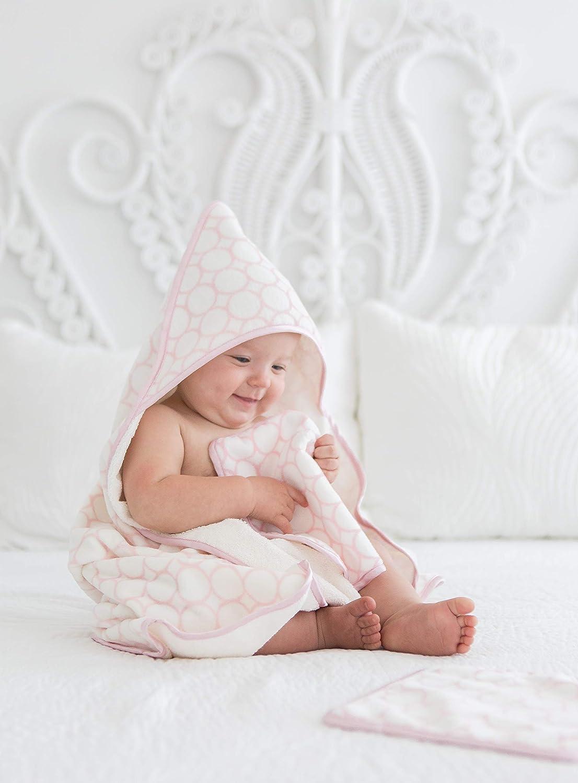 SwaddleDesigns Toallitas de Velour Orgánico Bebé, Círculos con acabado satinado, Rosa pastel, Set de 2: Amazon.es: Bebé
