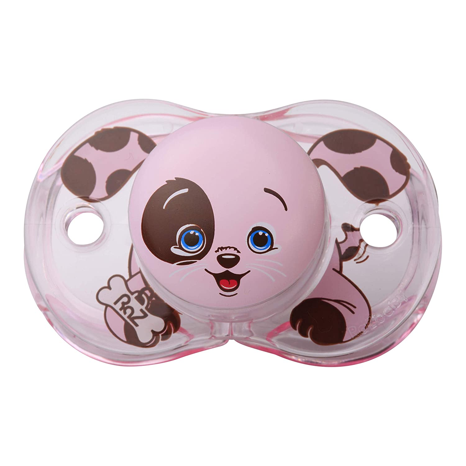 RaZbaby Keep-It-Kleen Pacifier, Pink Percy Puppy