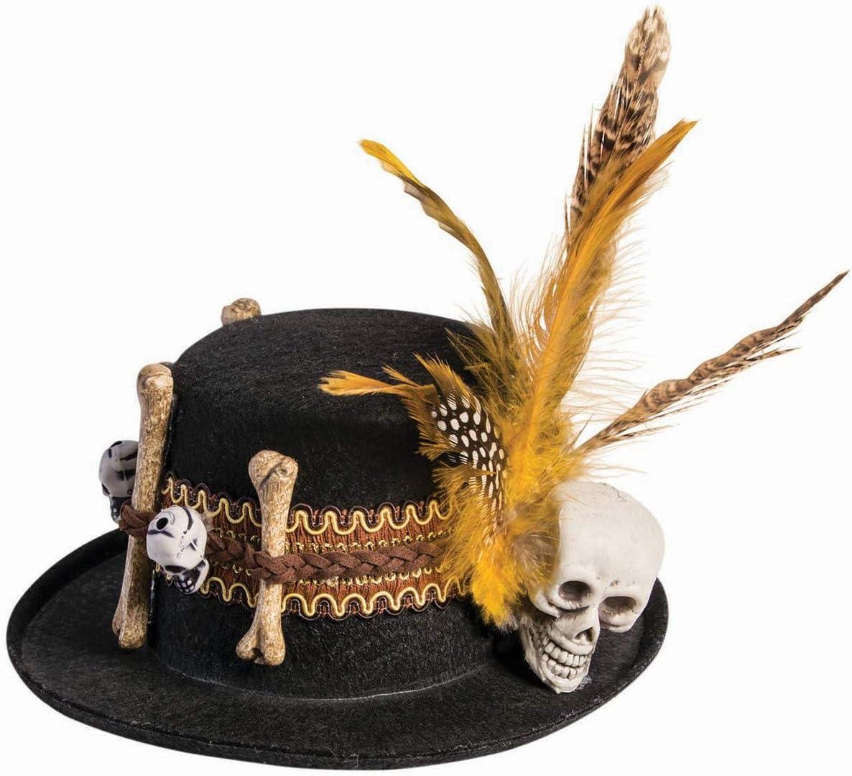 Multicolor Standard 79243 Forum Novelties Unisex-Adults Voodoo Mini Hat Black