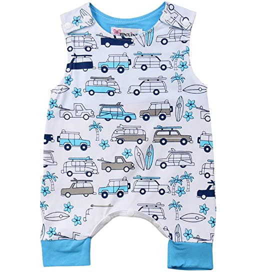e44375636ef9 Amazon.com  Charm Kingdom Newborn Kids Baby Boys Girls Summer ...