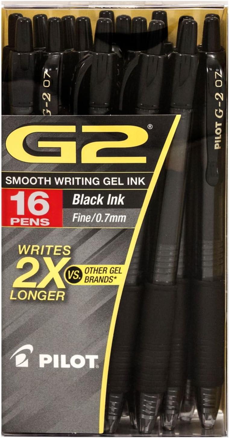 Pilot G2 Retractabble Gel Ink Rolling Ball Black - 16ct. Pack by Pilot