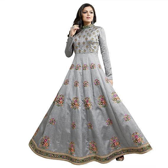 Buy Touch Trends Grey Designer Party Wear Salwar Suit Wedding Dress Elegant Contrast Floral Resham Work With Border Work Royal Look At Pop Corn Price At Amazon In,Party Wear Amazon Wedding Dresses Indian