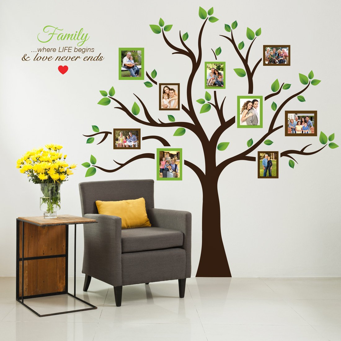 Timber Artbox Large Family Tree Photo Frames Wall Decal - The Sweetest Highlight of Your Home and Family by TIMBER ARTBOX (Image #2)